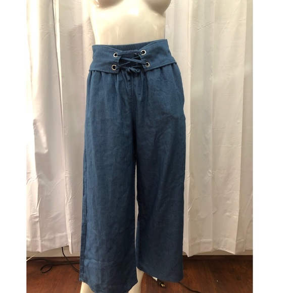 Lucca Couture Denim High Waisted Culhottes